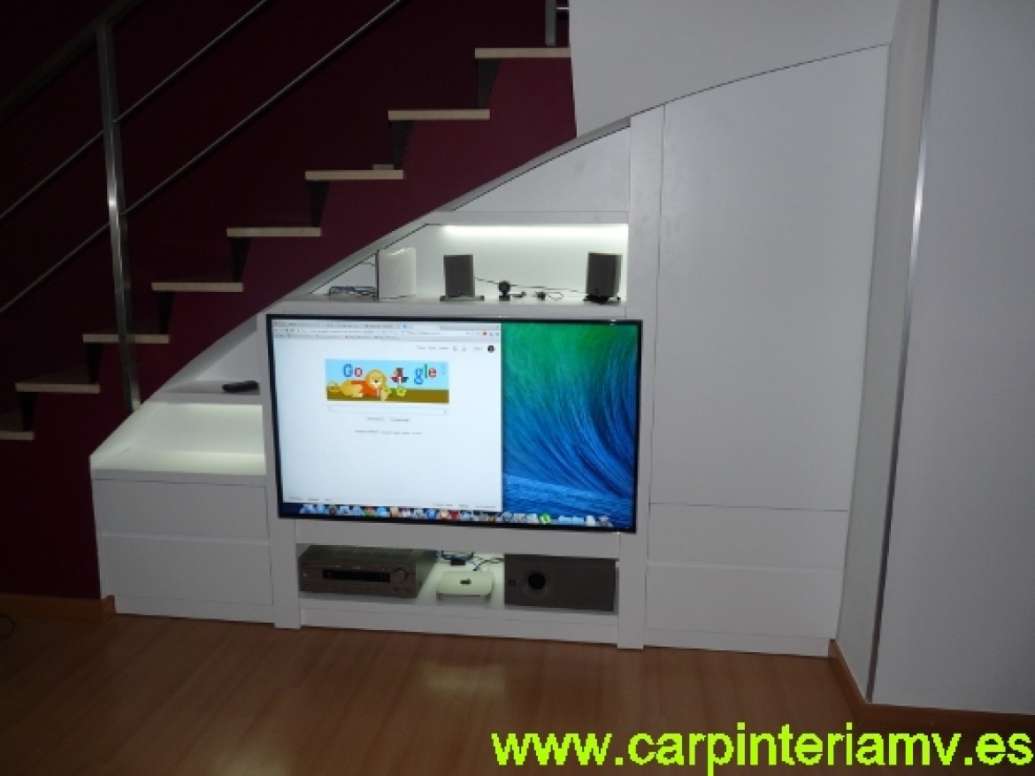 Mueble Multimedia A Medida Carpinter A Mv